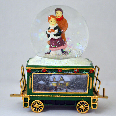 Wonderland Express Snow Dome Train #14 only Thomas Kinkade Winter Fun