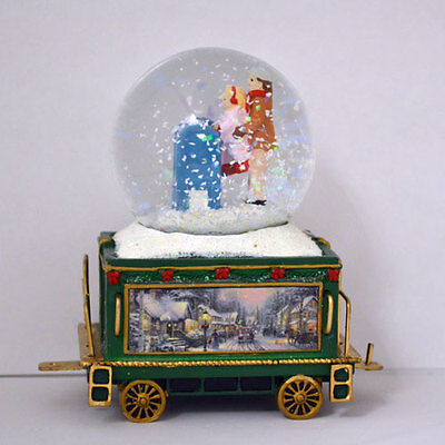 Wonderland Express Snowglobe Train Set #10 Thomas Kinkade Bradford Exchange