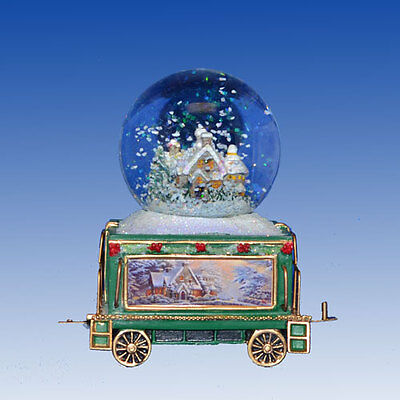 White Christmas Dreams Wonderland Express Snowglobe Train Set #8 Thomas Kinkade