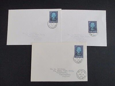 ST.HELENA - 1965 1st LOCAL POST - 3 x 1st DAY COVERS -ALL LOCAL OBSOLETE CANCELS