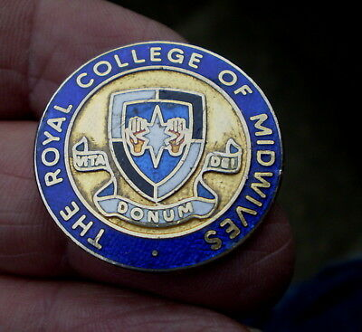 Excellent Vontage 1950/60s Enamelled Badge - The Royal College Of Midwives