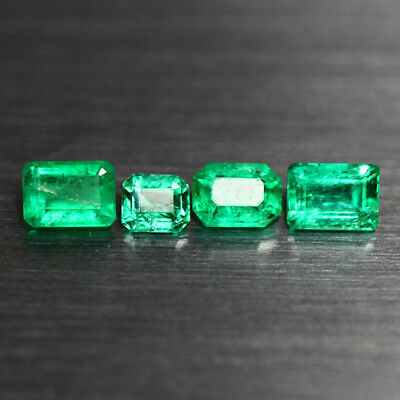 0.79 Cts_Gorgeous !! Top Fire Luster_100 % Natural Rare Best Colombian Emerald