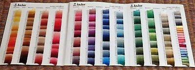 Anchor Folder Of Number & Shade Samples - Chart For Embroidery Threads