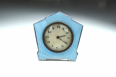 Original Art Deco enamel and chrome small clock French circa.1920