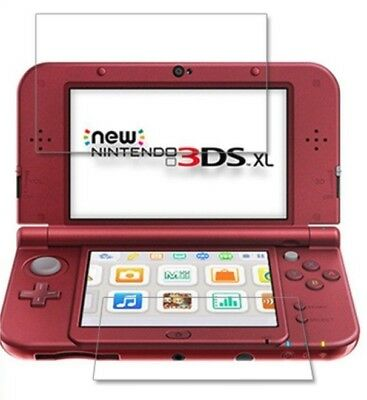 Nintendo NEW 3DS LL XL Screen Protector Film Cover Skin Guard Clear Top & Bottom