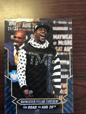 Floyd Mayweather 25/25 Topps On Demand The Road To August 26 Mayweather McGregor