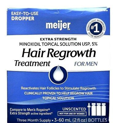 Minoxidil 5% Extra Strength Hair Regrowth Treatment 4 Men 3month supply 11/2018