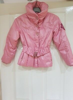 Girls Vera Piuma Geox pink feather down padded winter coat age 6 years