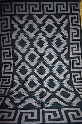 Handmade Cotton Prayer Rug Dhurrie Durrie 4'x6' 12