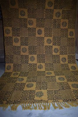 Natural Hand Block Dabbu Geomatric Print Cotton Made Traditional Area