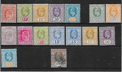 Ceylon EDVII mostly  mint  range to 2R 25c this is used