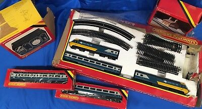 Vintage Hornby 00 Gauge Electric Train set - B.R. High Speed Train with Extras