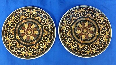 Versace Rosenthal Barocco Pair Of Coasters In Box