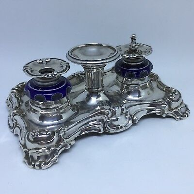 Solid Silver Inkstand c1830s