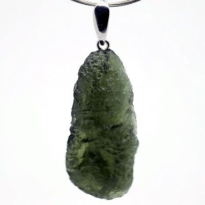 MOLDAVITE - 6.30 grams Sterling Silver Pendant - PERFECT GIFT CHRISTMASS COMING
