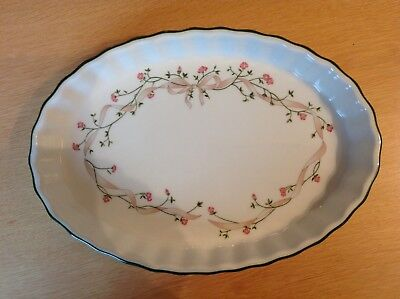 Eternal Beau Oval Flan/Quiche Dish By Johnson Brothers