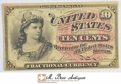 1863 10 Cents 4th Issue Fractional Currency *344