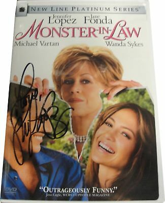 Jennifer Lopez Monster In Law Autograph DVD Signed on Plastic cover With COA