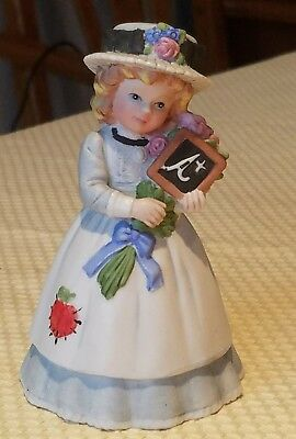 Vtg 1993 Enesco Porcelain (Teacher) Marjorie Sarnat Lady Bell