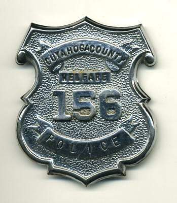 defunct Cuyahoga County OH Welfare Police badge - Ohio sheriff