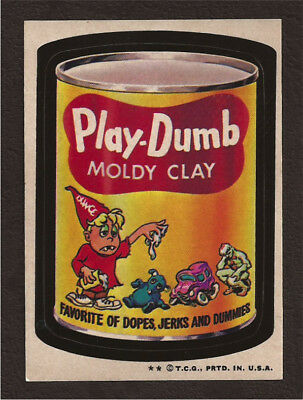1974 Topps Wacky Packages Series 6 PLAY DUMB