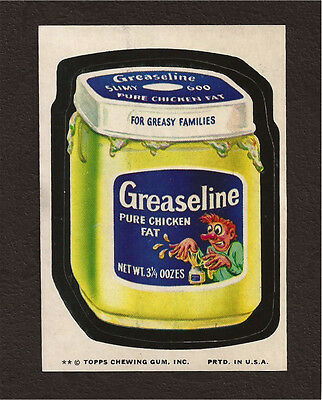 1974 Topps Wacky Packages Series 10 GREASELINE