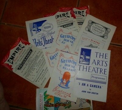 Selection of various Belfast Theatre programs late 50's