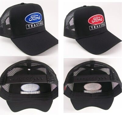 4990c13c38d Ford Tractor Farm Embroidered Mesh Cap Hat  40-8200M Choose blue or red logo