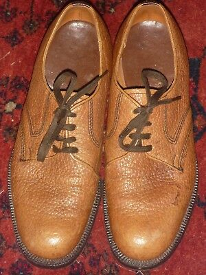 Churchs Tan Brown Grained Leather Shoes Excellent Condition Size 7F Elgin Church