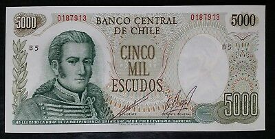 Chile 5000 Escudo Note; Runaway Inflation Note