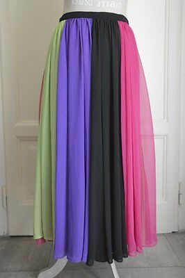 Gonna lunga vintage arcobaleno vtg rainbow long skirt