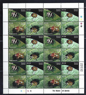 Panama Page Of 6 Blocks - Beetles Stamps  1998 #870 Mnh Og