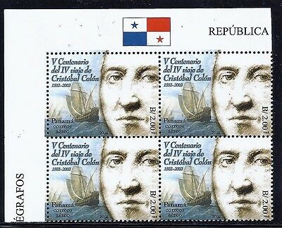 Panama Block Of 4 Stamps -Cristobal Colon $2.00 Stamp #c460 Mnh Og