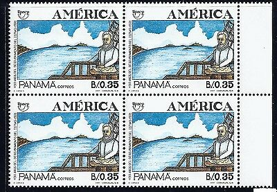 Panama Block Of 4 Stamps -America 1991 #785 Mnh Og