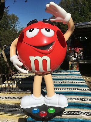 "M & M Candy Store Display Stand – Mr Red – VERY GOOD CONDITION 42"" Collectible"