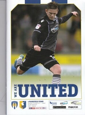 Colchester United v Mansfield Town (Sky Bet League Two) 07.10.2017