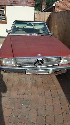 Mercedes 350sl convertable 1972 barn find classic for restoration or spares