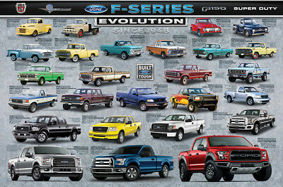 Ford F-Series F-150 Pickup Trucks EVOLUTION History of American Cars POSTER
