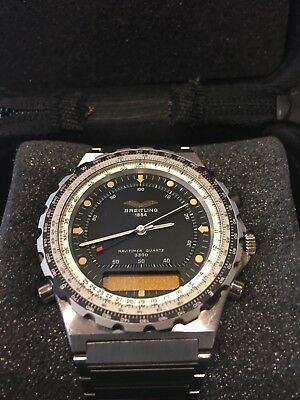 Breitling Jupiter Iraqi Air Force Chronograph Wristwatch, Rare, Never Worn