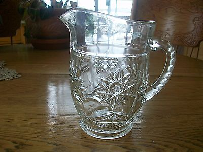 Vintage Eapc Anchor Hocking Star Of David Syrup Pitcher