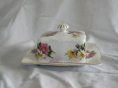 Queen Ann Made In England Bone China Square Butter Dish