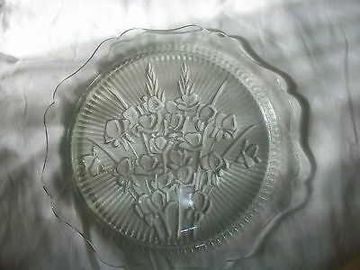 Jeannette Depression Glass Iris-Herringbone Cake-Sandwich Tray