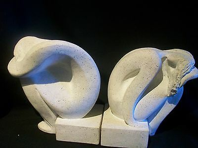 Vintage Pair Of Austin Prod. Sculpture Man And Woman