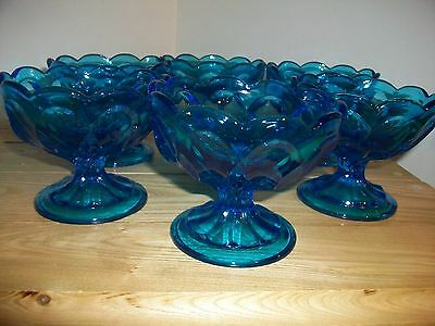 Eapc Anchor Hocking 6 Fairfield Pattern Sherbet Bowls