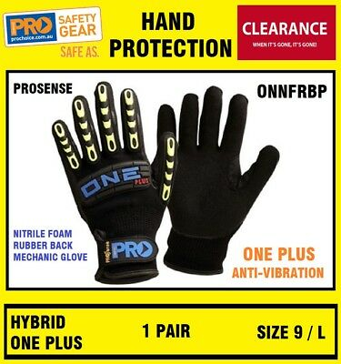 ProChoice ONNFRBP Pro One Plus Anti Vibe Nitrile Gloves Sport Work SIZE 9 L 1P