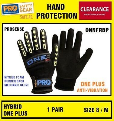 ProChoice ONNFRBP Pro One Plus Anti Vibe Nitrile Gloves Sport Work SIZE 8 M 1P