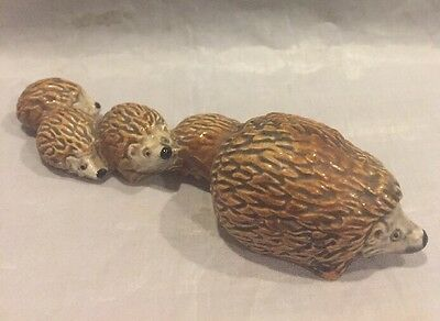 "Vintage Goebel Hedgehog Family 5"" West Germany"