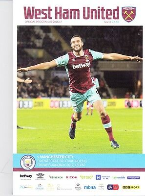 West Ham United v Manchester City (FA Cup) 06.01.2017