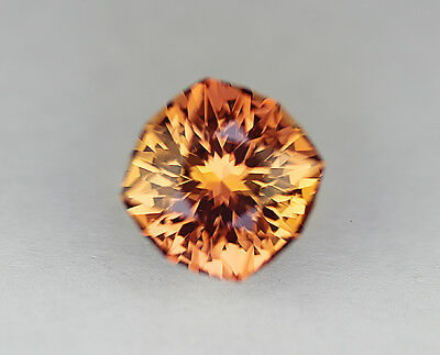 Padparadscha Sapphire. Lab Grown. Square Cushion Cut.10mm. 4.70cts