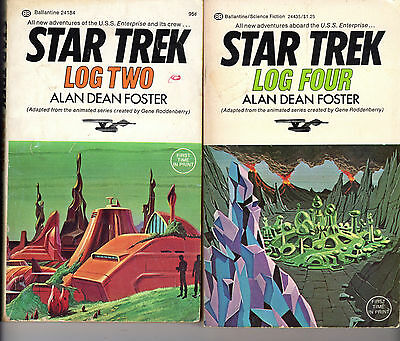 Star Trek Logs Two, Four & Five Paperback Books Animated Series 2 4 5 ALL FIRSTS